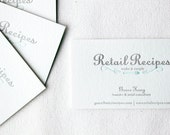 Custom Letterpress Business Cards. Set of 100