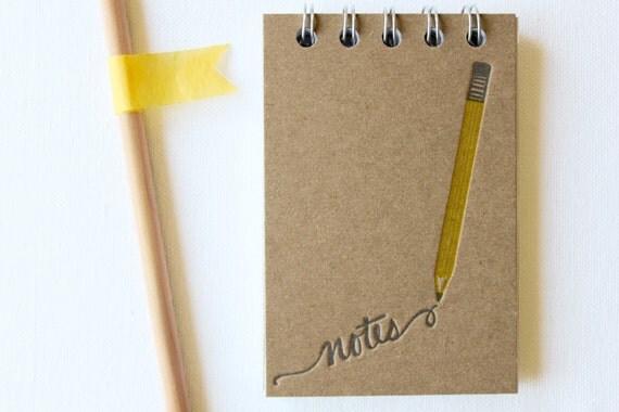 Pencil Note Letterpress Notebook