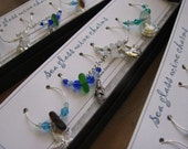 Ocean Sea Glass Wine Charms (set of four)