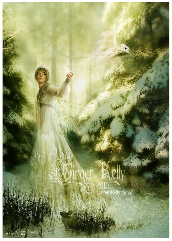 SALE Winterspell 8 x 10 inch Fairy tale Queen of Fairies Fantasy Illustration