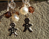 Gingerbread Man Earrings FREE SHIPPING