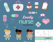 Lovely Nurse Clip Art Set (ca101069043) - 21 Printable Files For Personal And Home-Based Small Businesses