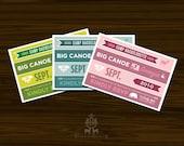 Camp Bachelorette Postcard Invites