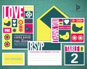 Mondrian Wedding Invitation