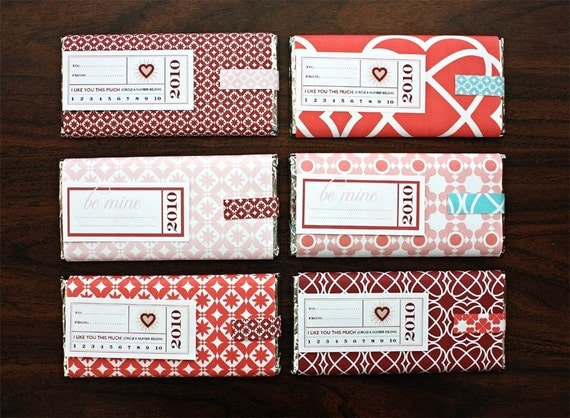DIY Printable Valentine's Day Candy Bar Packagiing
