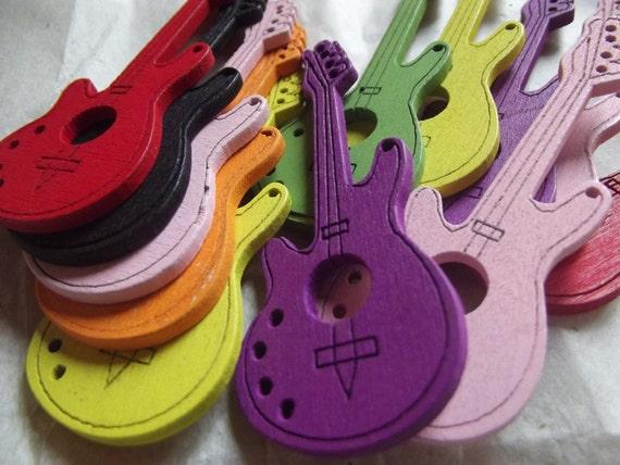Wooden Form Guitars - Random Color Mix - 8 Pieces