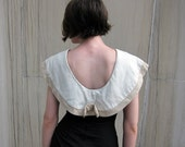 1950s wiggle dress with sailor cape collar
