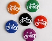 Bicycles - Set of 6 Pinback Buttons Badges 1 inch