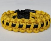SLIM Paracord Survival Bracelet Cobra Deluxe - Yellow and Black