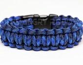 550 Paracord Survival Bracelet  - Denim