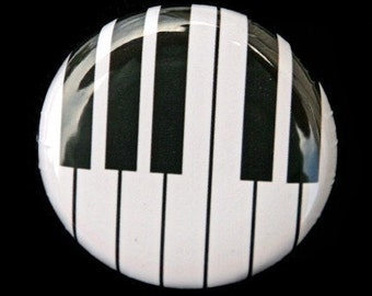 Piano Keys - Pinback Button Badge 1 inch