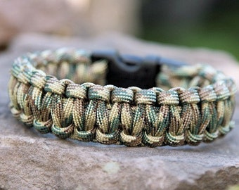 550 Paracord Survival Bracelet Cobra - Multi Camo