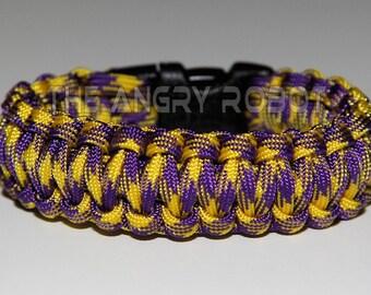 550 Paracord Survival Bracelet - Grapevine Purple and Yellow