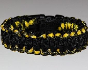 550 Paracord Survival Bracelet - Bumblebee and Black