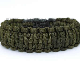 Paracord Survival Bracelet  King Cobra - Olive Drab Green
