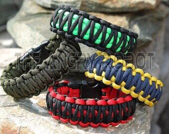 Paracord Survival Bracelet  King Cobra - You Choose the Colors