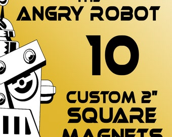 10 Custom Professionally Made 2 inch Square Magnets