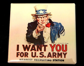 I Want You For US Army - Button Pinback Badge 2 inch