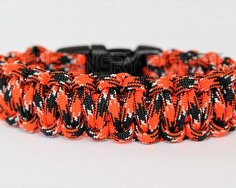 550 Paracord Survival Bracelet  - Tiger Camo