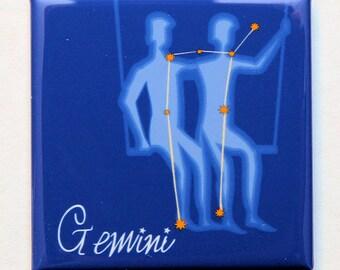 Gemini Zodiac Sign - Magnet 2 inch Square