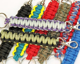 Paracord Keychain Lanyard with Trigger Snap - You Choose The Colors