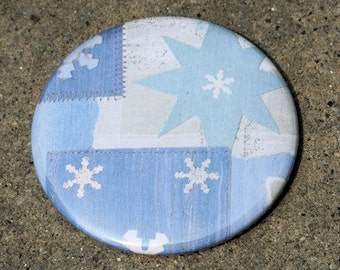 Stars and Snowflakes Pocket Mirror 2 1/4 inch