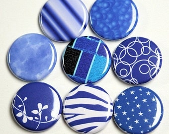 The Blues Set of 8 Buttons Pinbacks Badges 1 inch