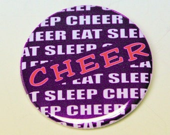 Cheer Button Pin Badge 2.25 inch
