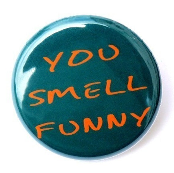 You Smell Funny - Pinback Button Badge 1 inch