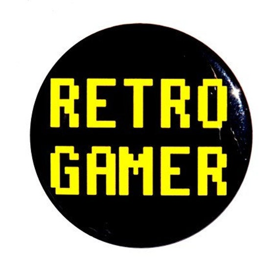 Retro Gamer - Pinback Button Badge 1 1/2 inch 1.5