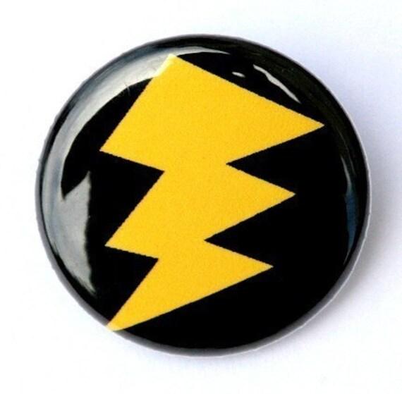 Lightning Bolt - Pinback Button Badge 1 inch