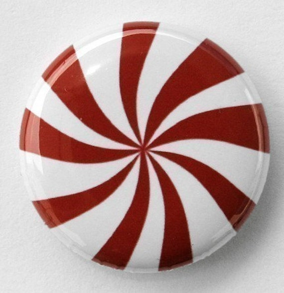 Peppermint - Pinback Button Badge 1 inch