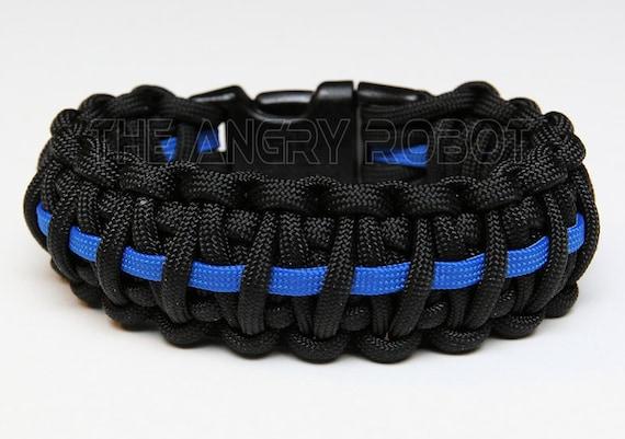 Paracord Survival Bracelet King Cobra Thin Blue Line
