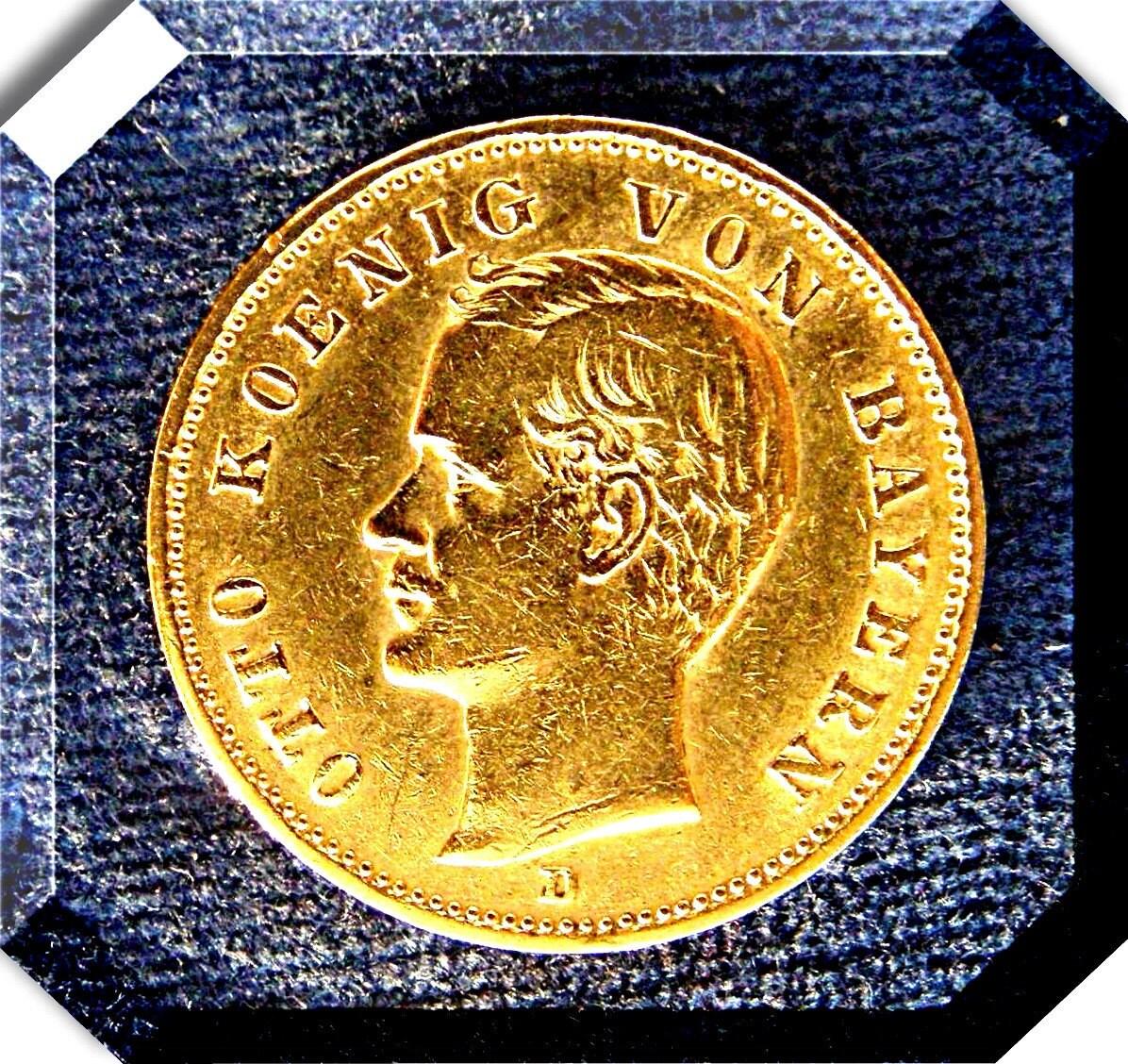 gold mark 20 dm gold coin germany king otto of bavaria 1900. Black Bedroom Furniture Sets. Home Design Ideas