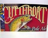 Fish Tales - Recycled Beer Package Journal, Notebook, Memo Pad, Cutthroat, Trout, Animal, Water, Utah, Uinta, Schmidt