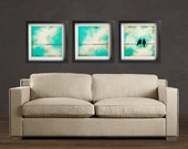 Love You More - 3 12x12 - Set of 3 Love Birds Fine Art Prints by Jodi Leigh