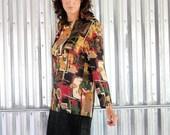 vintage 80s op art drop waist mini dress