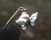 GOLDIE in Sterling Silver... Mini Ryukin Goldfish Pendant/Charm-Ready to Ship