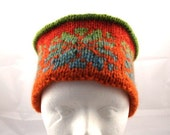 Knitted Fair-isle colorfull hat