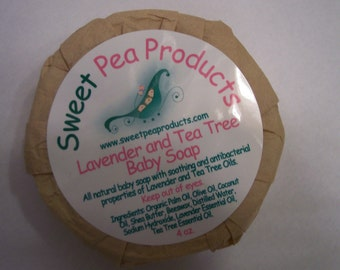 All Natural Tea Tree and Lavender Baby Soap
