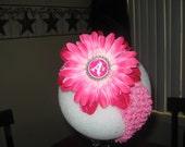 oakland athletics baseball pink flower headband