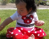 Red Minnie Mouse  outfit set ...and you pick the size