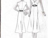 Late 1930'S Butterick Dress Pattern