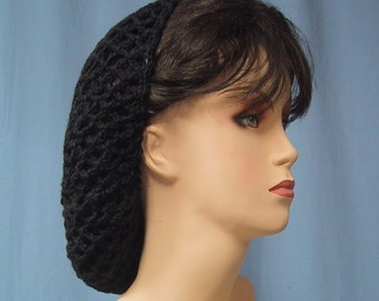 Crocheted Snood - Color Choice - Handmade - 1940s Retro Look - Food Service Hair Net - Classic Style - Lots of Colors - Acrylic Yarn