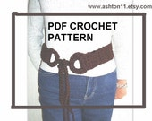 INSTANT DOWNLOAD Crochet Pattern PDF 130, Bohemian Belt