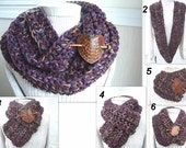 INSTANT DOWNLOAD Crochet Pattern PDF 199 - Chunky Circle Cowl - by Ashton11