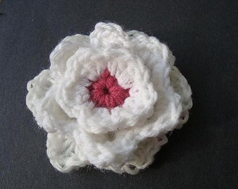 INSTANT DOWNLOAD Crochet Pattern PDF 58 .- 3 Layer Rose Applique- Beginner Level