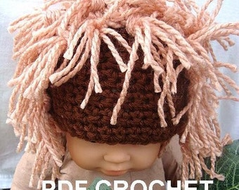 INSTANT DOWNLOAD Crochet Pattern PDF 185-Little Lion Hat- sizes newborn to age 5 included