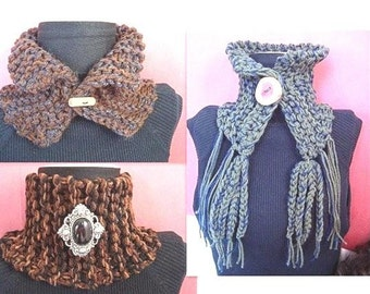INSTANT DOWNLOAD Knitting Pattern PDF 103 , 3 chunky cowls in one pattern, beginner level