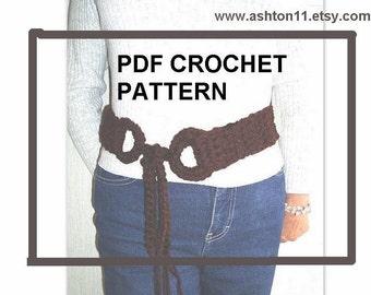 INSTANT DOWNLOAD Crochet Pattern PDF 130, Bohemian Belt